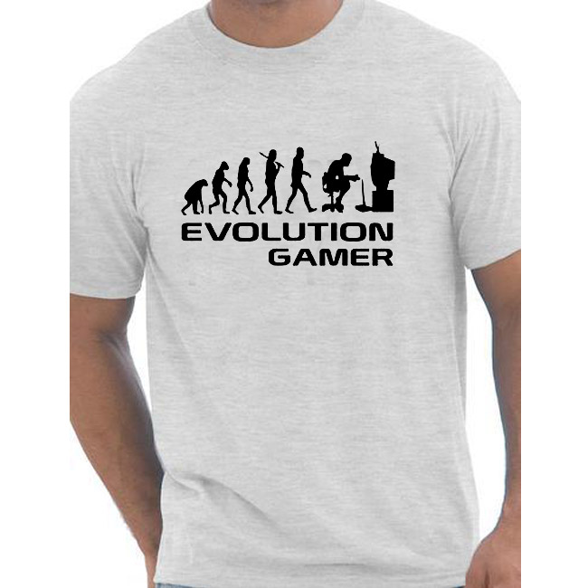 Evolution Of A Gamer PC Geek Gift Funny Mens T Shirt More Size and Colors cotton european size 1