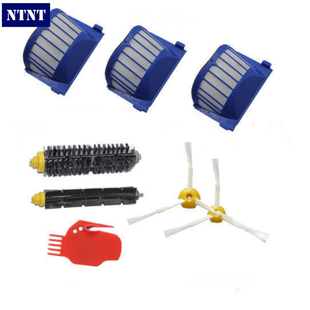 NTNT Free Post New AeroVac Filter Tool Brush 3 armed for iRobot Roomba 600 Series 620 630 650 660 free post new blue 6 x aerovac filter for irobot roomba 600 series 620 630 650 660 670 680