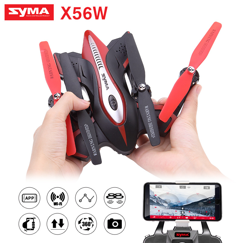 2017 Syma Newest design drone Folding Quadrocopter X56W 0.3MP camera With Wifi real-time sharing flashing