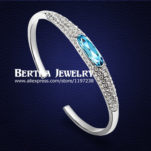 Brand Opening cuff bracelets Pulseras For Women With Swarovski Elements Crystal Cristal Bijoux armbanden en armbanden Jewelry