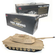 HengLong 1:16 2.4G US M1A2 ABRAMS RC Battle Tank High Quality ABS Remote Control Tanks Best Gifts for Teens Kids(China)