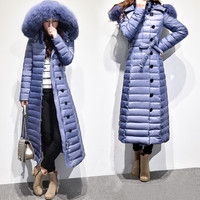 Oversized Coats Winter Coat Women Fox Fur Collar Women S Down Jacket Over Knee Long Jacket