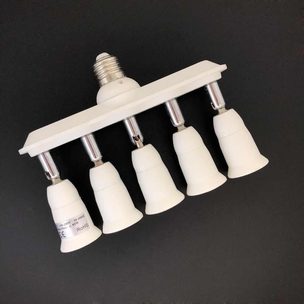 Патрон лампы конвертеры E27 от 1 до 2/1 до 3/1 до 4/1 до 5 лампа база для фото камеры светильник конвертер переменного тока 110-240 В лампочек.
