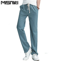 2016 Top Selling Solid Spring Summer Men Linen Pants Trousers Big Size Casual Mens Jogging Pants