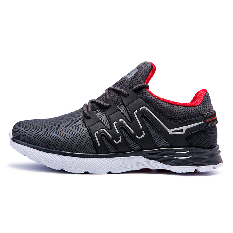 ONEMIX Men's Running Shoes Leather Shoes Reflective Male Athletic Shoes Outdoor Sports Lightweight Sneakers For Jogging Trekking-in Running Shoes from Sports & Entertainment    2