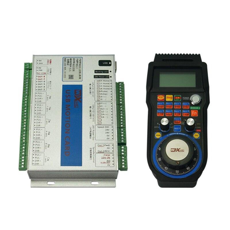6 axes Mach3 carte de contrôle de mouvement USB roue à main sans fil pour bricolage CNC routeur fraiseuse