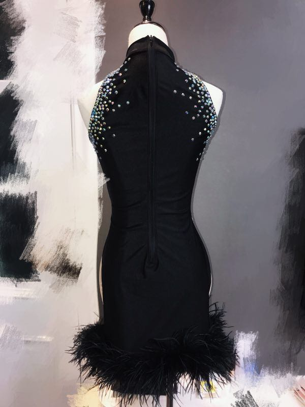 Performance Transparent Fil Brillant Voir Femelle Noir Stretch 2019 Justaucorps Party Ds Costumes Sexy Robe Nouveau Vêtements Dj Y6b7fyg