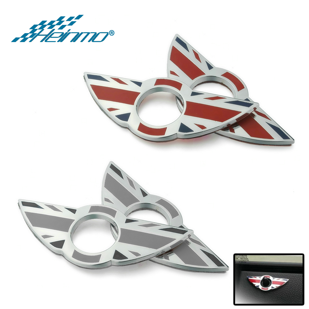 For MINI Clubman Door Lock Pin Wing Decoration Sticker For MINI Cooper R56 R53 R55 R57 R58 R59 F55 F56 Car Styling Accessories