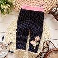Otoño de Corea niñas de algodón pantalones y leggings Bebé Pantalones de Terciopelo Suave Estupendo
