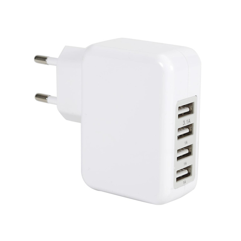 <font><b>Quick</b></font> <font><b>Charge</b></font> 3.1A 15.5W Adapter USB Charger Smart 3 Port Desktop Charger Mobile Phone Travel Charger For <font><b>Smartphone</b></font>