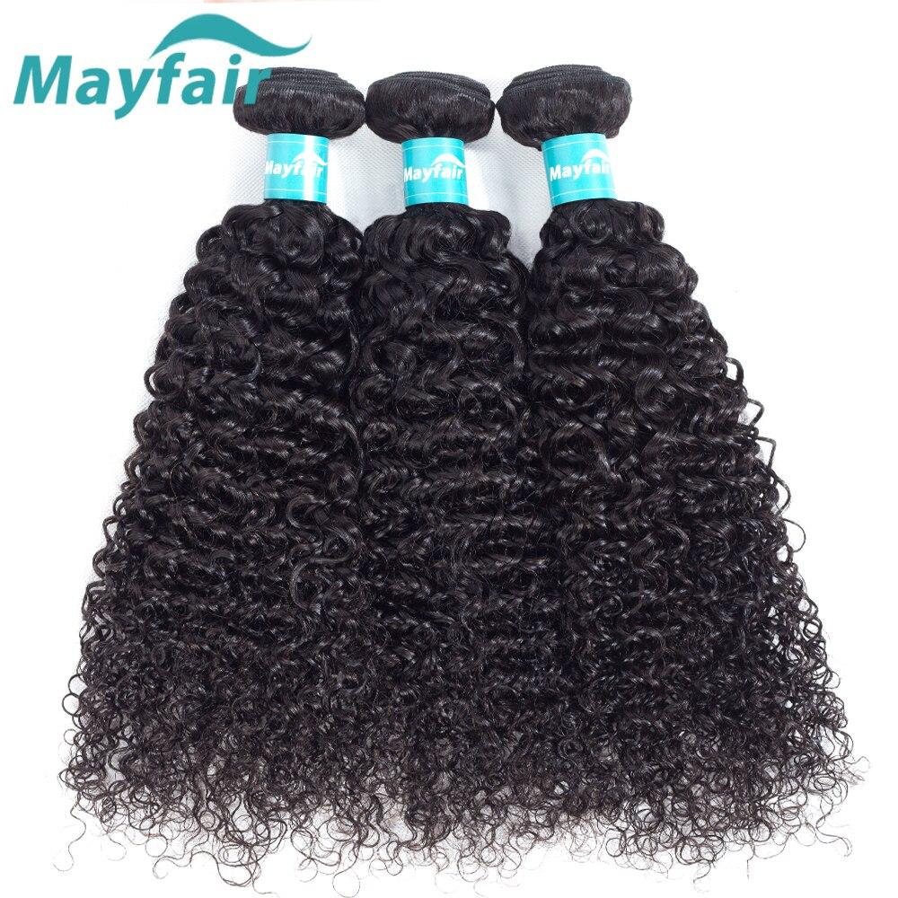 3 Bundles Deals Peruvian Kinky Curly Hair Weave Bundles 100% Human Hair Extensions Mayfair Remy Human Hair Weaves Natural Color