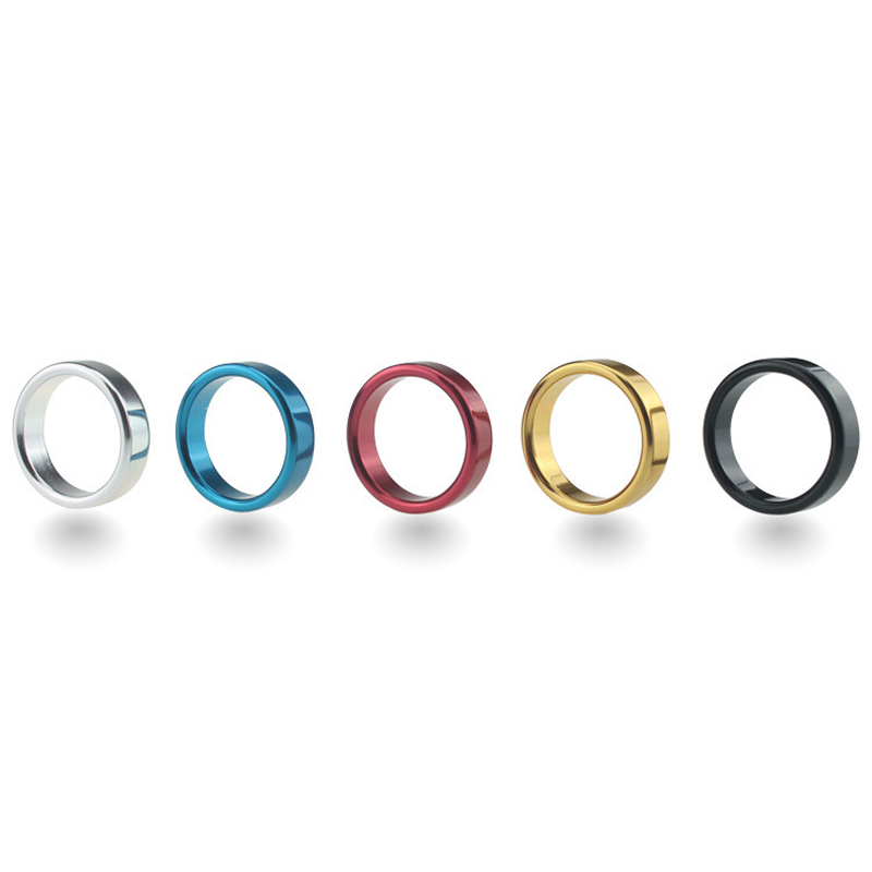Diameter 4,4.5,5cm Aluminum Alloy Metal Penis Ring Male Delay Ejaculation Cock Ring Sex Toys For Men Erotic Games Cockring