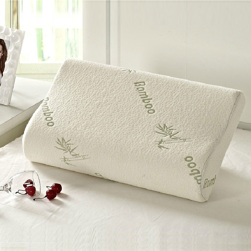 30cm 50cm 100 Bamboo Fiber Pillow Cover Slow Rebound Memory Foam Cervical Health Care Whole And Retail In Travel Pillows From Home Garden On