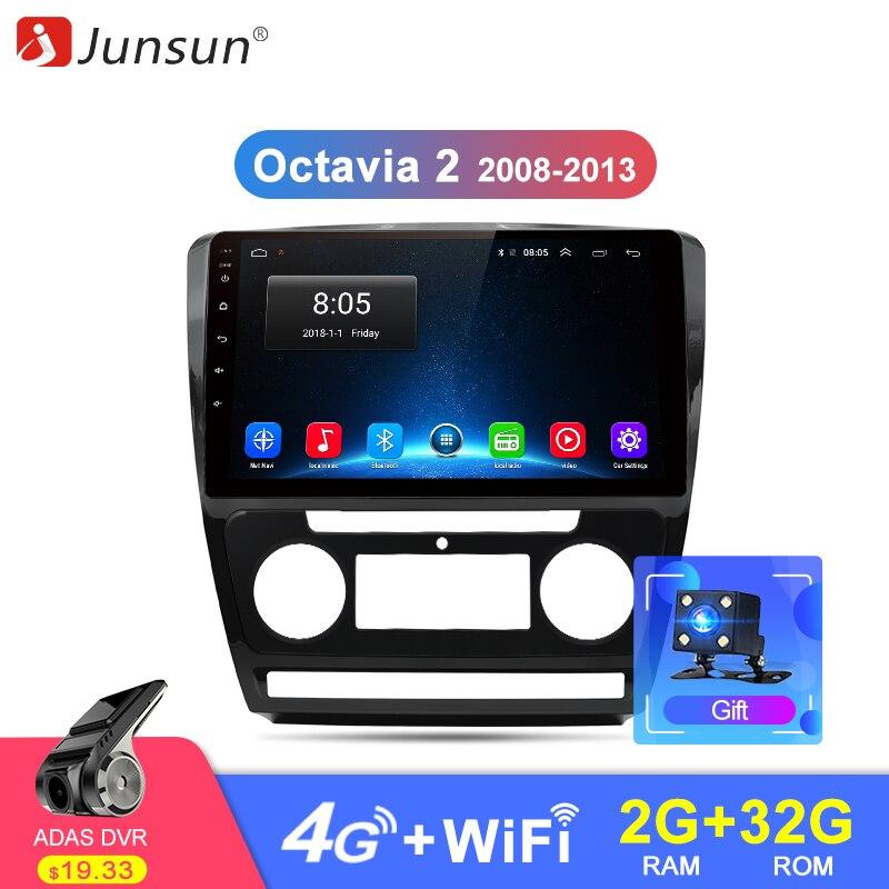 Junsun 2G 32G Android 8 1 4G Car Radio Multimedia Video Audio Player Navigation GPS For