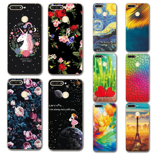 huge discount e4b96 feec7 For Huawei Y6 2018 Case Novelty Silicone Phone Case Cover For Huawei Y6  Prime 2018 Cute Covers Coque Funda Y6 Y 6 Prime 2018