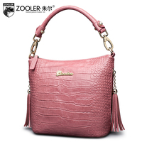ZOOLER Factory Wholesale Cowhide Bag 2017 Top Handle Women Bag Genuine Leather Shoulder Bag Top Quality