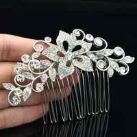 Moda Limpar Rhinestone Cristal Nupcial Do Casamento Pentear O Cabelo Jóias Cabelo Acessórios Grampos CO2235R