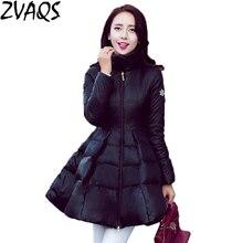 Зимняя женская куртка Новая мода Европейский большой подол плащ Тип черный желтый средней длины женские зимние пуховики парка YM345