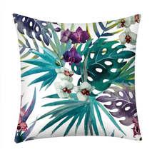 Funda estampada para sofá o cama para el hogar, cojín decorativo Vintage de algodón para verano 19jan28