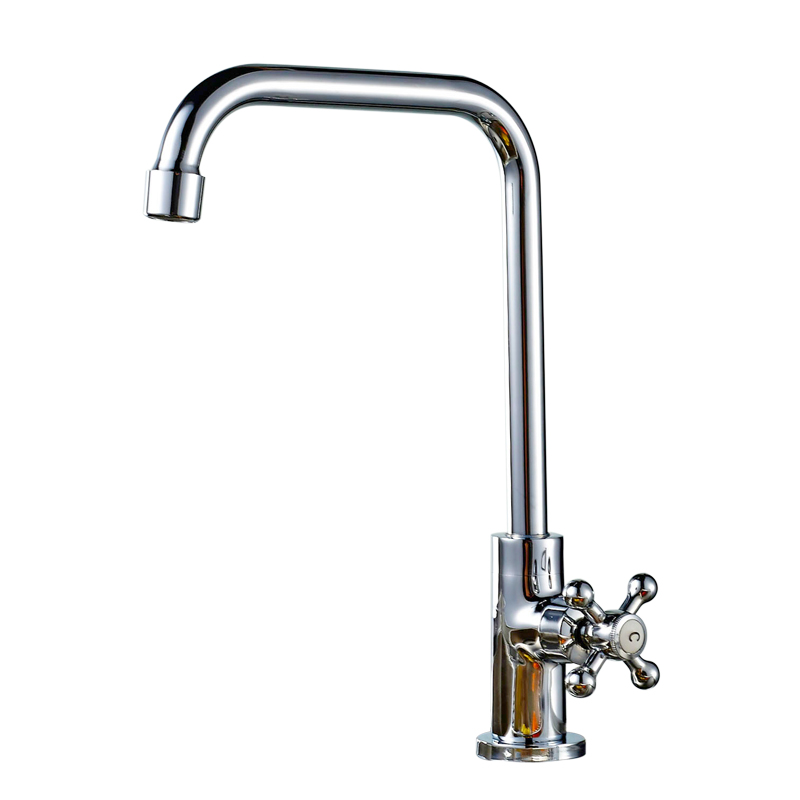 Kitchen sink mixing valve faucet Single cold copper kitchen sink sink laundry pool basin faucet