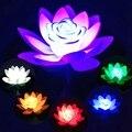 Лотос цветок форма пруд фонарь свет плавающий Led фестиваль Открытый солнечной энергии водонепроницаемый декоративное освещение для сада л...