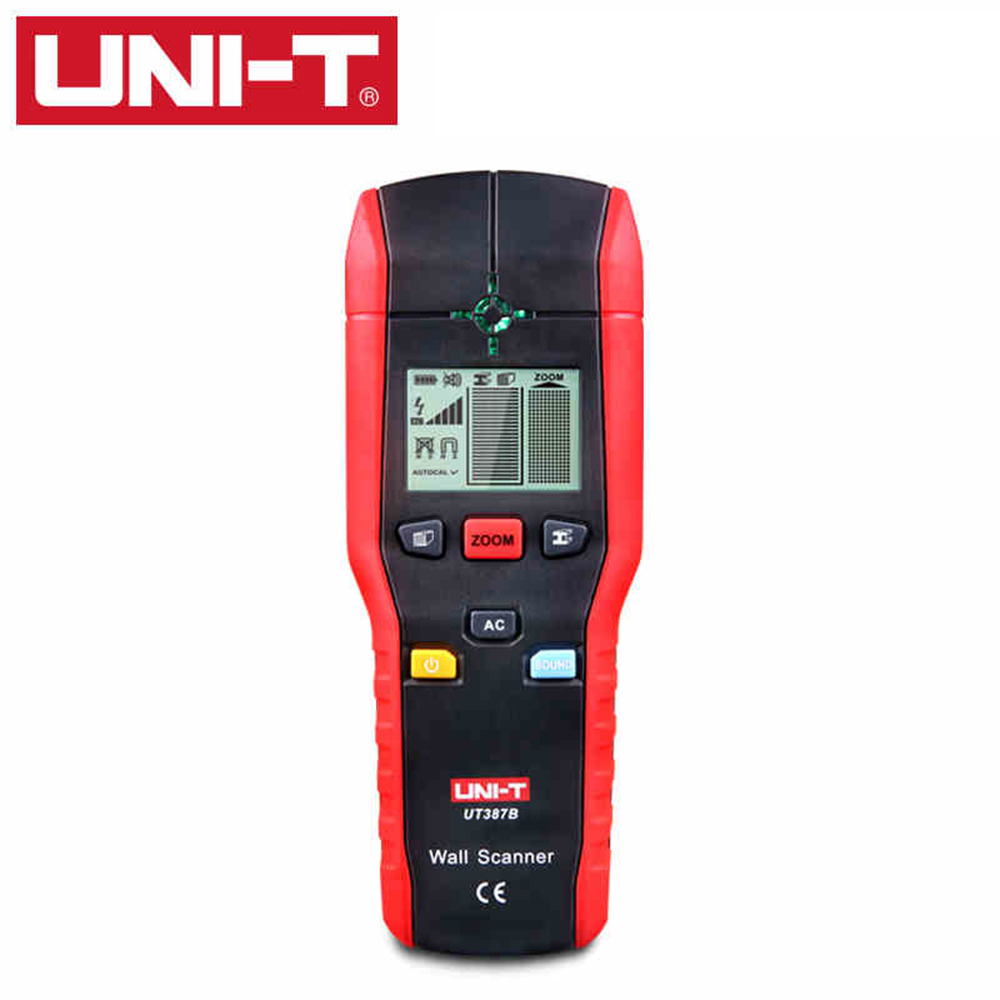 UNI-T UT387B Multifunctional Handheld Wall Detector Metal Wood AC Cable Finder Accurate Wall Scanner Diagnostic-tool