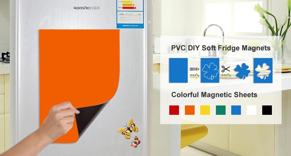 Aliexpress.com : Buy Diy Fridge Magnets Soft Rubber Magnetic ...