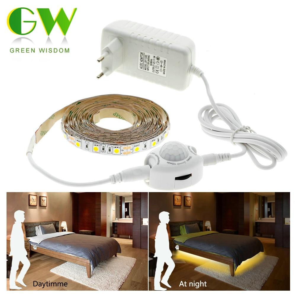 12V DC Infrared Sensor Light Strip Waterproof LED Intelligent Bed Cabinet Lamp