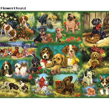Diamond Painting Sets Cross Stitch Square Picture Of Dogs Rhinestone 5D Mosaic Embroidery Sale