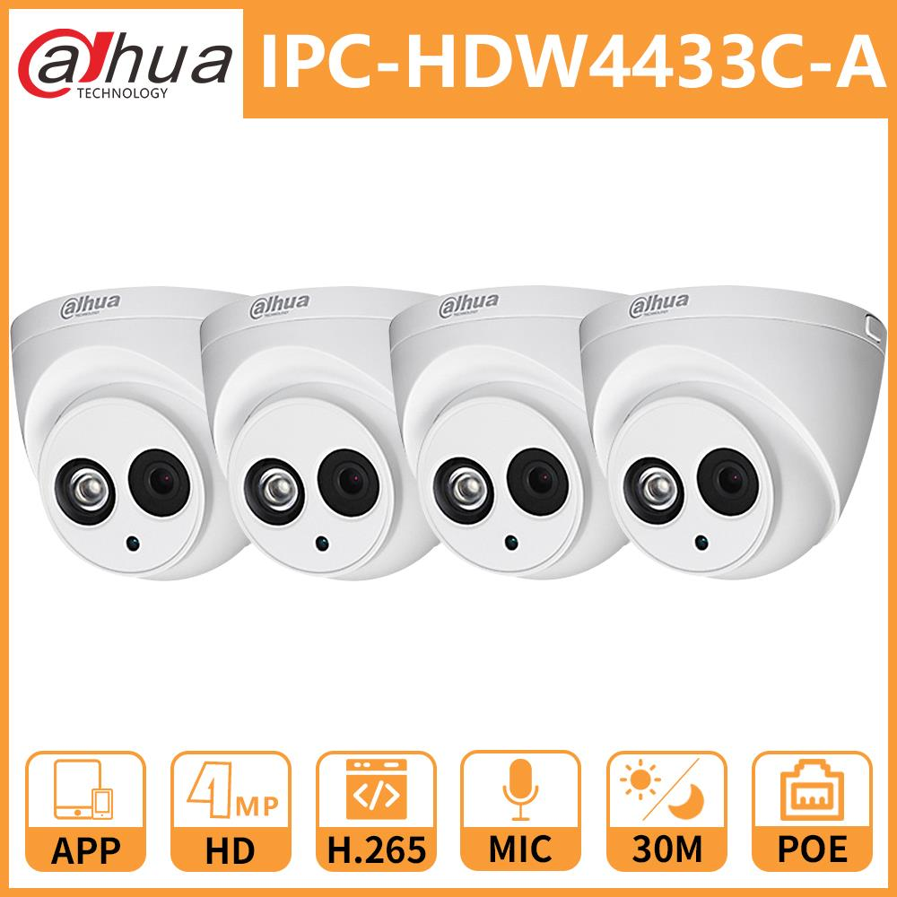 Dahua 4MP DH IPC-HDW4433C-A 4433C-A Network IP Camera Onvif Built-in MIC With POE Replace IPC-HDW4431C-A Home Security Camera