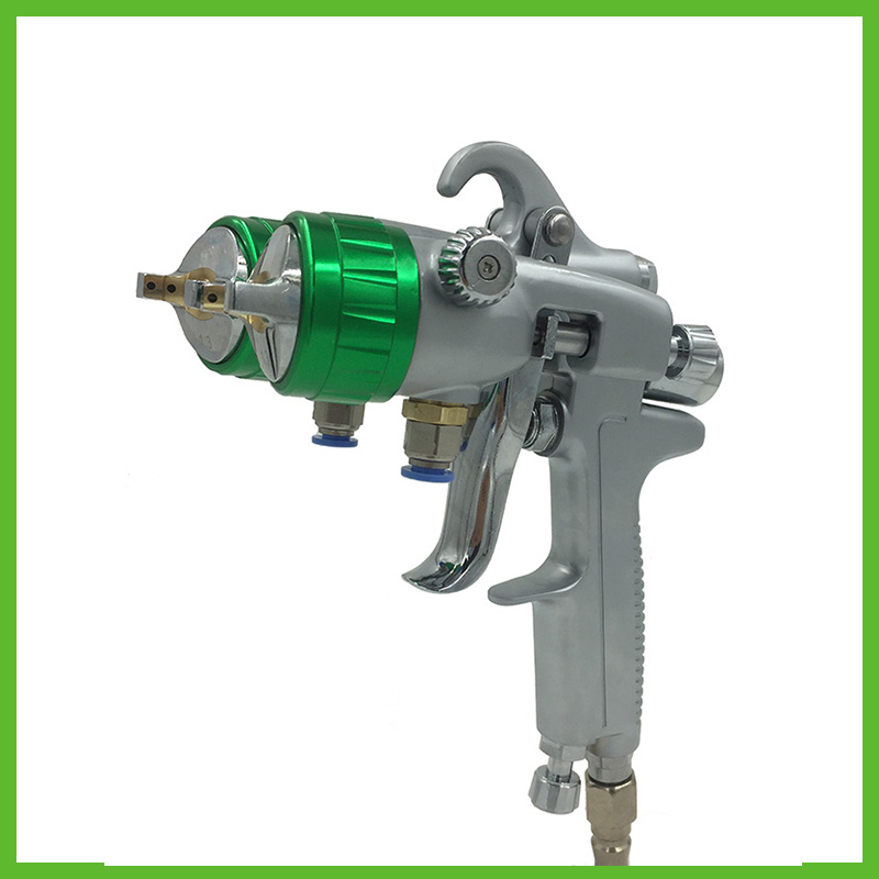 SAT1189 professional double nozzle spray gun for car painting wall painting furniture painting tools state of wow бейсболка wow модель 2587674