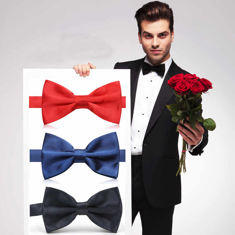 NEW Sale 1PCS Bow Tie 2 Layers Male Solid Color Marriage Bow ties For Men Butterfly Cravat Bowtie Butterflies