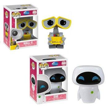 FUNKO POP New Disney Pixar Anime Movie toys EVE & WALL-E Vinyl Action Figures Collection Model Toys for Children Christmas gift