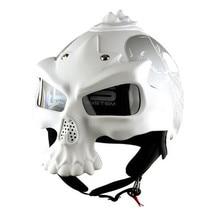 New Arrival 100% Original Motorcycle Skull Helmets Double Lens Half Face Harley Helmet Motorbike Capacetes Casco Retro Casque