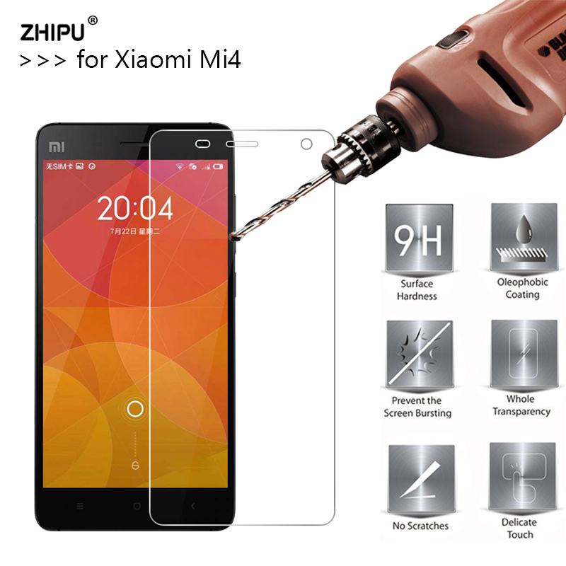 2.5D 0.26mm 9H Premium Tempered Glass For Xiaomi Mi4 M4 Screen Protector Toughened protective film For Xiaomi Mi4 M4 Glass *