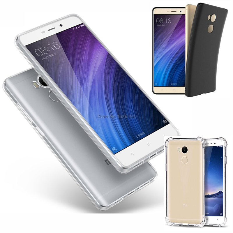 Slim Fit Thin Anti-Scratch Soft Skin Silicone TPU Case For Xiaomi Redmi 4 Pro/Prime Mi6 Mi5C Mi5S Plus Cover Redmi Note 4X 4A