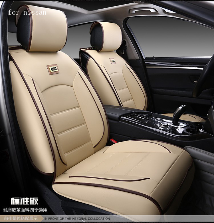 For nissan qashqai juke Murano x-trail red black waterproof soft pu leather car seat covers brand front & rear full seat cover