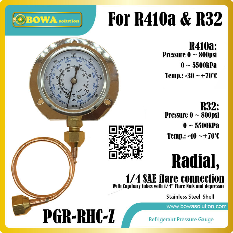 0~800PSI, radial, ASTM304 stainless steel Pressure Gauge with capillary tube with 1/4 SAE flare nuts& depressor 5pcs 304 stainless seamless steel capillary tube od 5mm x 3mm id length 250mm polished surface rust protection popular