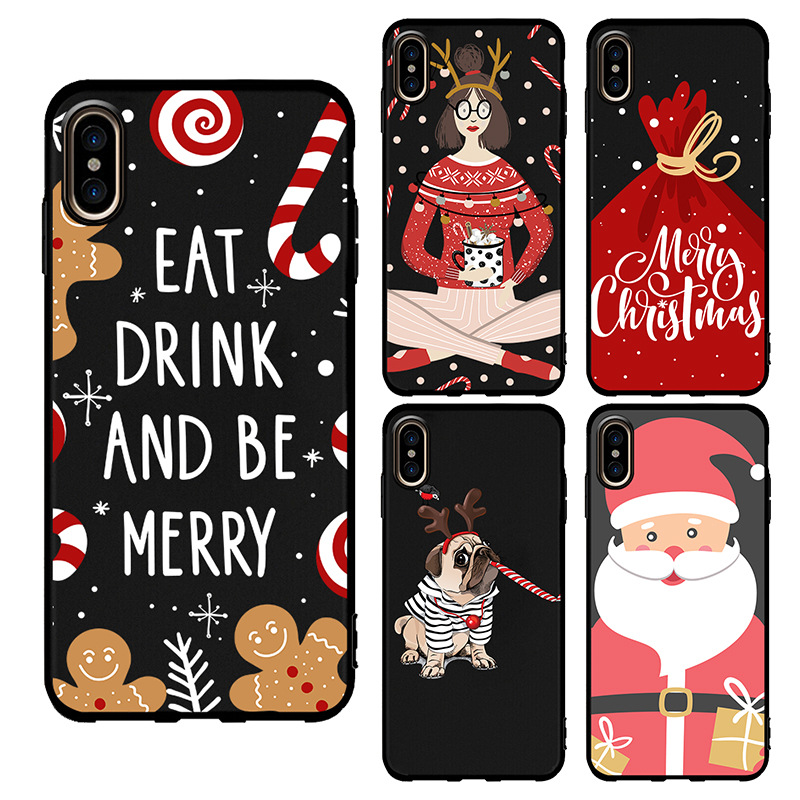 Christmas Phone Case Iphone Xr.Us 75 0 Retail Custom Christmas Phone Case Soft Tpu For Iphone Xs Max Xr Xs Uv Printing Diy Design For Samsung Note 9 S9 Santa Claus In Phone Pouch