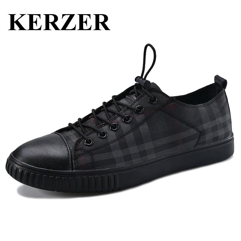 Prix pour KERZER 2017 Nouveau Hommes Sneakers Planche À Roulettes Chaussures D'été Hommes Chaussures de Marche Kaki/Noir Hommes Planche À Roulettes Sneakers Pas Cher Hommes Formateurs