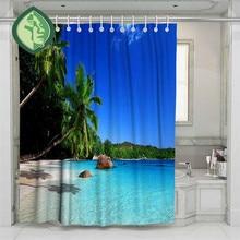 3D Beach Cartoon Beach Sea Shower Curtain Bathroom Waterproof Polyester Printing Curtains for Bathroom Shower beach sunlight waterproof shower curtain