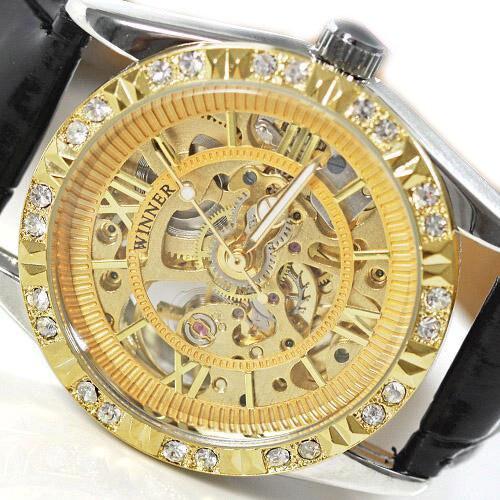 wholesale Ladies Automatic font b Watch b font Gold Grace Design Calendar Gift freeship