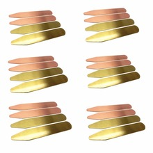 SHANH ZUN 24 Pcs Brass Collar Stays 2 Colors in Plastic Box, 2.5