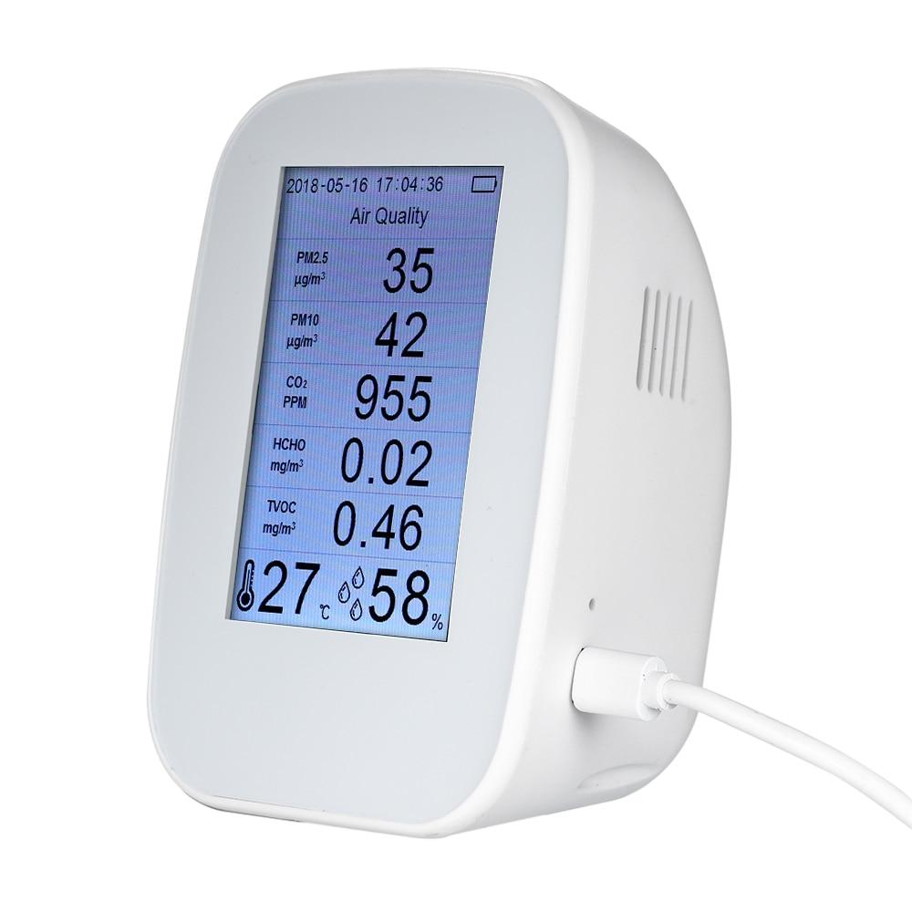 In QualitäT Sparsam D9-h Multifunktionale Air Qualität Detektor Gas Detektor Pm2.5 Hcho Tvoc Tester Co2 Meter Monitor-tester Für Smart Home Ausgezeichnete