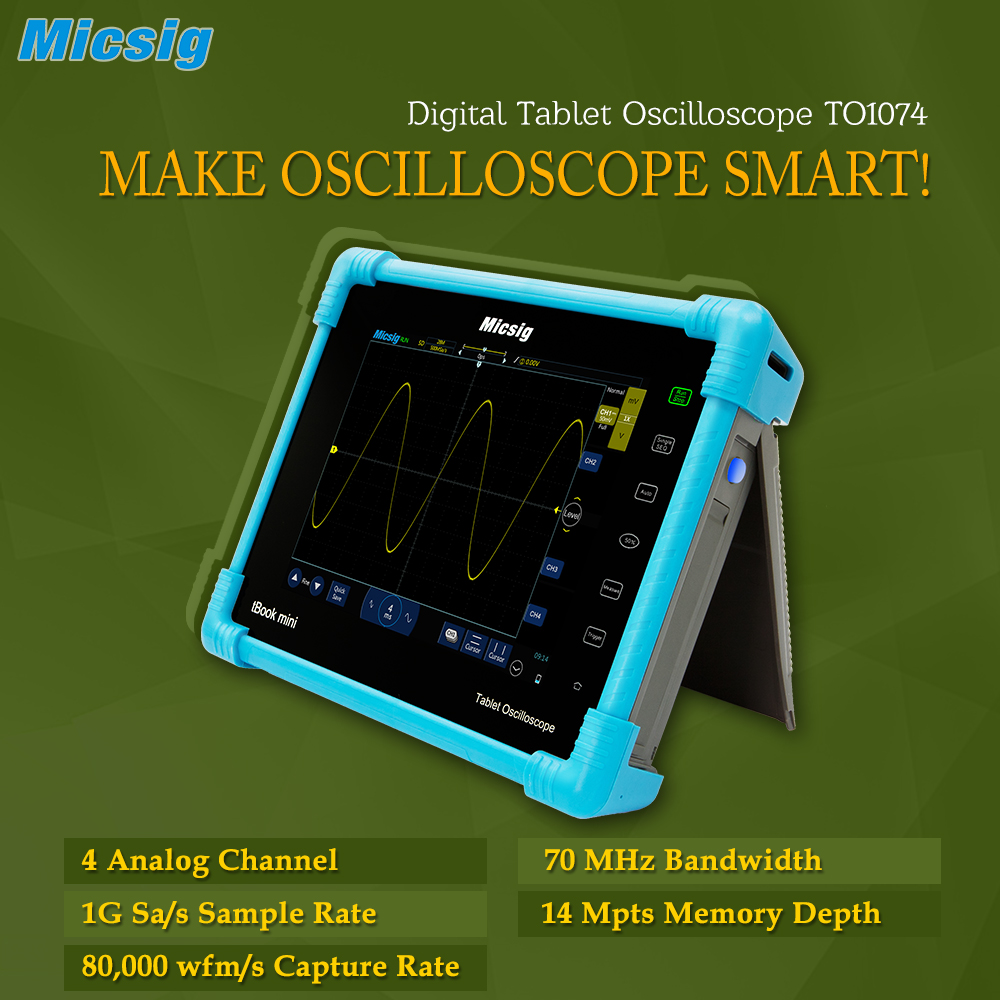 2016 New Digital Tablet Oscilloscope TO1074 70MHz 4CH 14Mpts scopemeter oscilloscope Automotive oscilloscope-portable