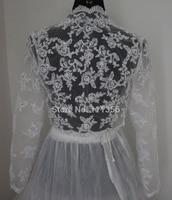 Sexy Bridal Bolero With Long Sleeve Elegant Wraps Ivory Lace Jackets Wedding accessories Shawl