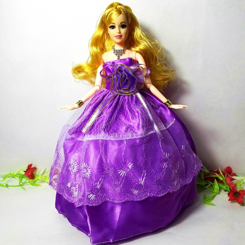 2017 Princess Sweet Doll Fashion Party Wedding Dress Moveable Joint Body Classic Toys Best Gift for Barbie Girls Friends,New 99 best girl toys 2017