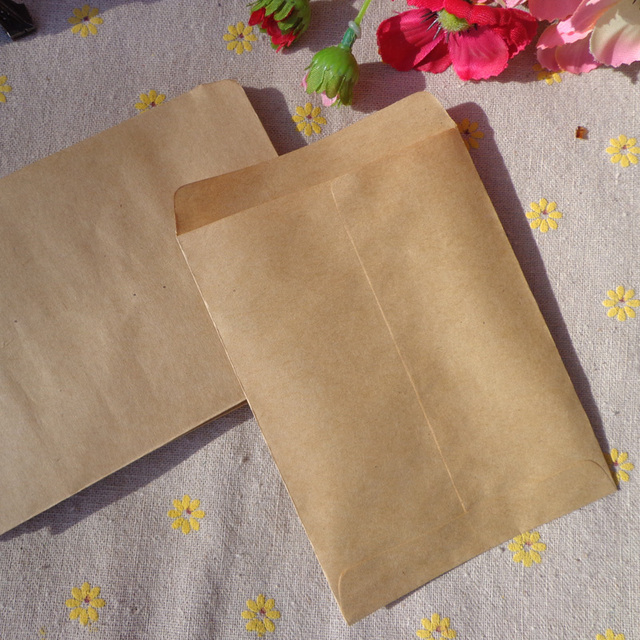 9x12 5cm Vintage Blank Kraft Envelope Plain Mini Bag