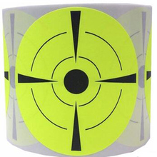 Target Stickers  3 Inch Round - Pasters Fluorescent yellow and Black gun shooting target stickers
