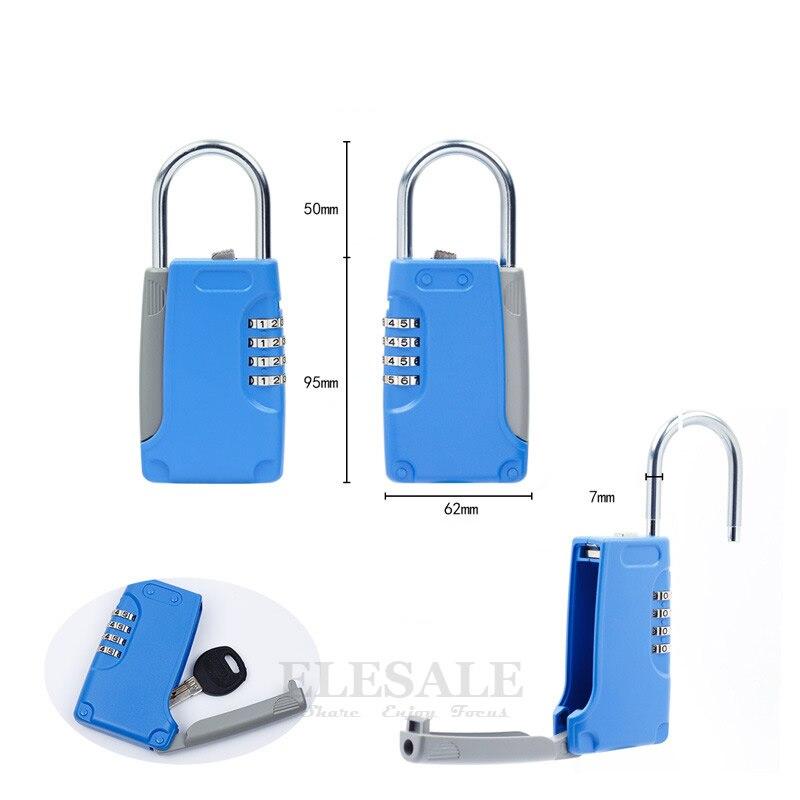 High Quality Hidden Key Safe Box 4-Digital Password Combination Lock With Hook Mini Metal Secret Box For Home Villa Caravan